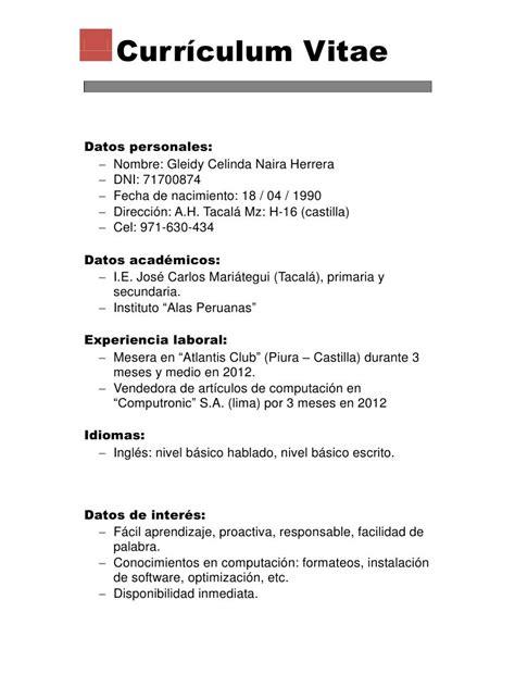 Lebenslauf Pdf by Vista Previa De Documento Curriculum Vitae Pdf P