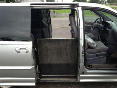 how petrol cars work 1999 dodge caravan lane departure warning buy used 1999 dodge caravan wheel chair van by mobility works in westland michigan united states