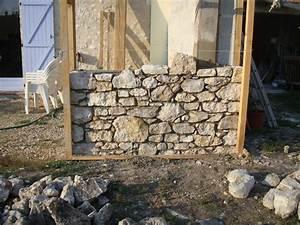 Construction En Pierre : montage muret en pierre homeezy ~ Premium-room.com Idées de Décoration