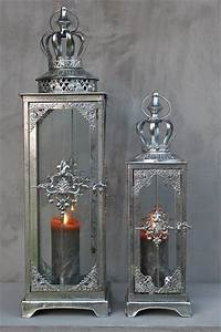 Laterne Silber Groß : laternen gro windlichter metall krone silber shabby antik ~ A.2002-acura-tl-radio.info Haus und Dekorationen