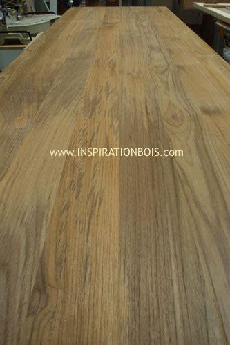 plan de travail panneau bois massif sur mesure en teck ou weng 233 massif
