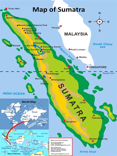 sumatra indonesia map