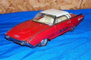 Old Friction Motor Toy Car Ford Thunderbird 10 U201d Vehicle
