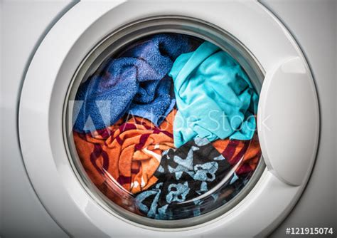 Washing Machine With Color Clothes  Buy This Stock Photo