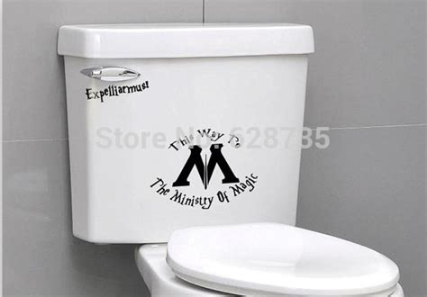stickers muraux toilettes humour free shipping ministry of magic toilet seat sticker harry potter toilet seat vinyl decal