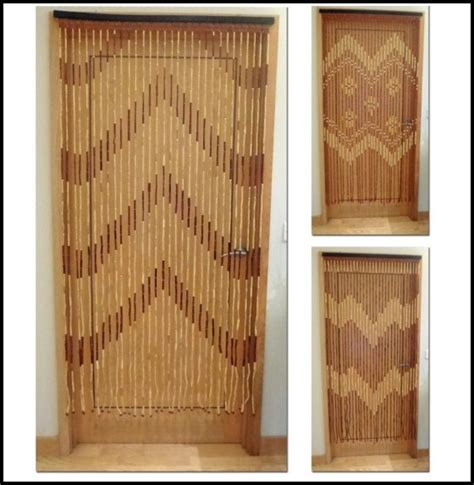 Bamboo Beaded Curtains For Doors   Curtains : Home Design