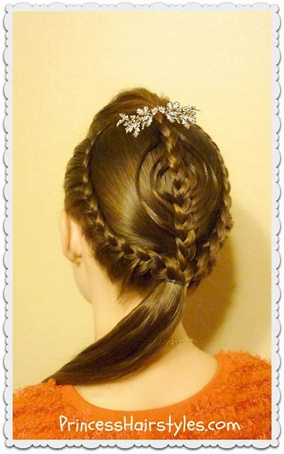 Christmas Hair Hairstyle Braided Ornament Hairstyles Tutorial