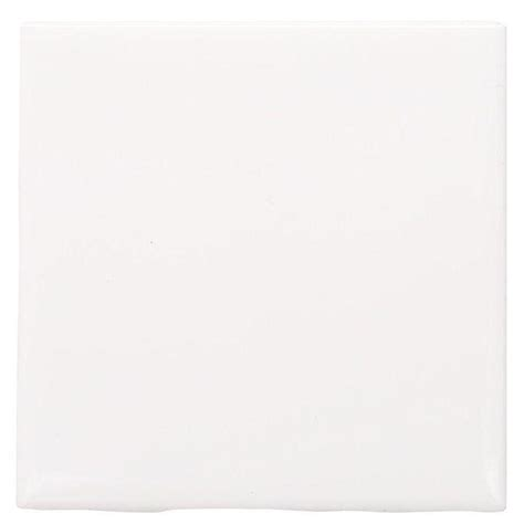 daltile semi gloss white 4 1 4 in x 4 1 4 in ceramic