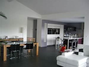 Salle A Manger Avec Salon : salon salle manger avec plafond rampant photo de ~ Premium-room.com Idées de Décoration