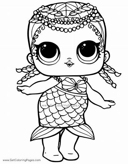 Lol Doll Coloring Pages Surprise Mermaid Colouring