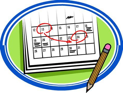 schedule clipart free your calendar clip clipartion