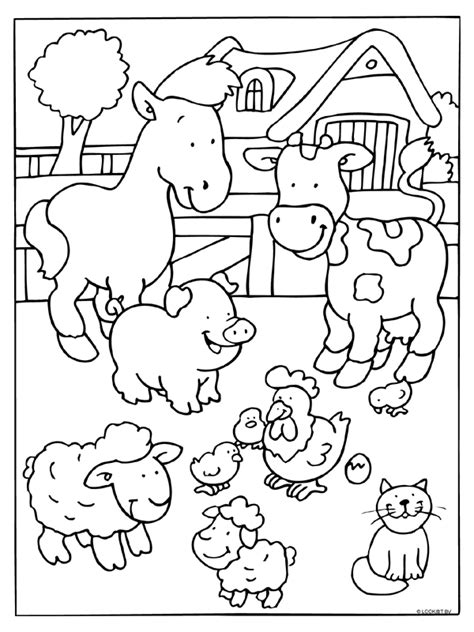 farm animal coloring page  crafts  worksheets