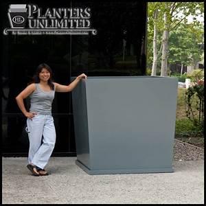 Square Fiberglass Planters - Commercial Sized Planters