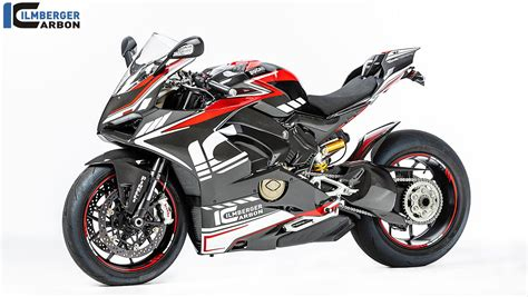 Black Ducati Panigale V4 by Ilmberger Carbon S Ducati Panigale V4 Carbon Build Exposed