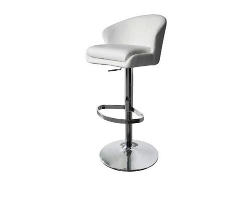 Double Modern White Bar Stools