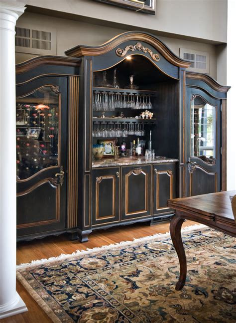 Custom Builtin Wine Cabinet  Traditional  Dining Room