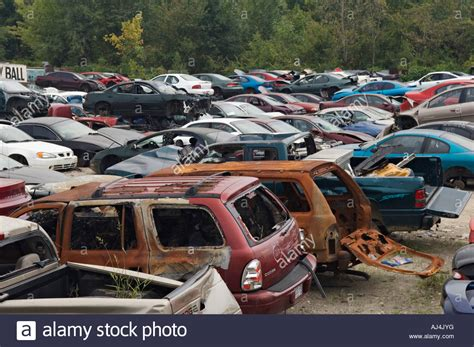 wrecked vehicles  auto salvage yard southern indiana