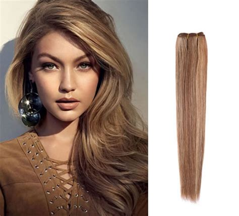 brazilian remy human hair weave dark brown hair