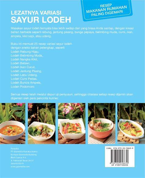 jual buku resep makanan rumahan  digemari lezatnya