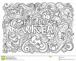 winter holiday coloring pages - winter coloring page stock vector illustration of black