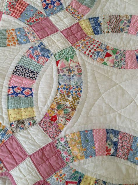 lovely wedding ring quilt applique patchwork and quilts wedding rings