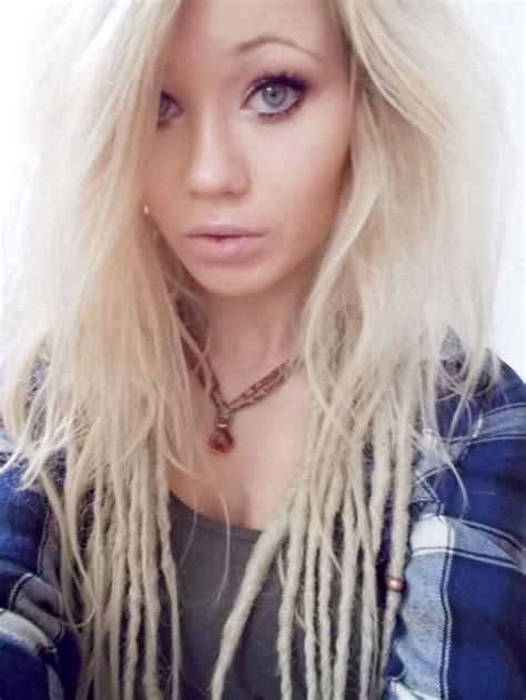 blonde dreadlocks dreads hairstyle bohemian blonde