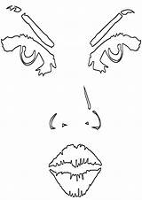 Lips Coloring Lips3 sketch template