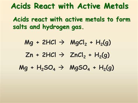 acid base reactions  chemistry