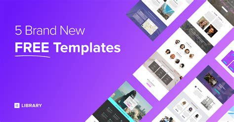 elementor templates 5 brand new free elementor homepage templates