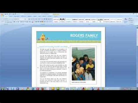 Free Newsletter Templates For Microsoft Word 2007 Costumepartyrun