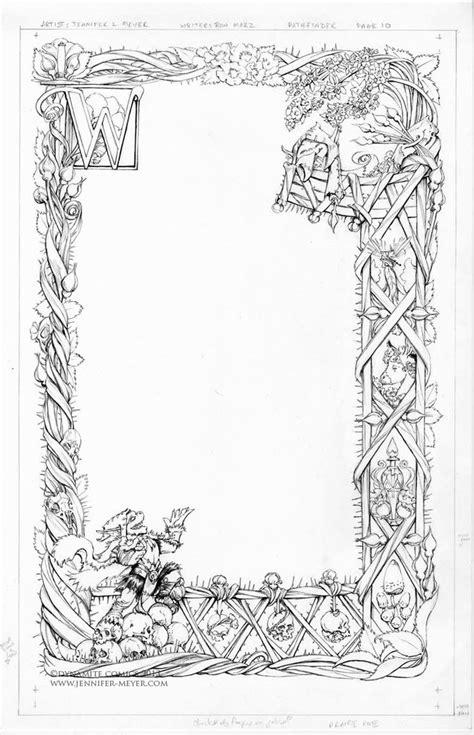 bordure dessins enluminure  ornements pinterest