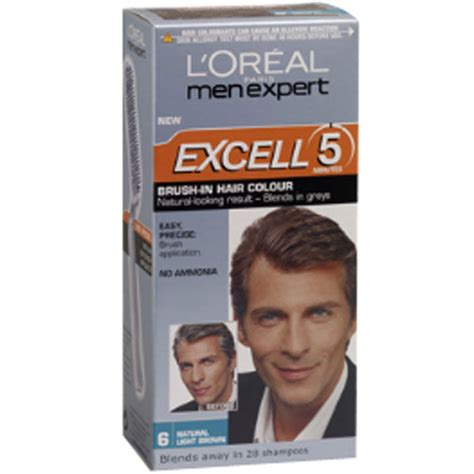loreal men expert excell  brush  hair colour natural