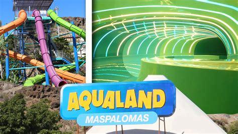 awesome waterslides  aqualand maspalomas gran canaria