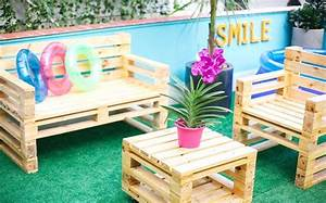 Salon De Jardin En Palette De Bois : comment fabriquer un fauteuil en palette pour personnaliser son espace ~ Voncanada.com Idées de Décoration