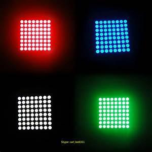 Round Dot Matrix Ultra Red Led Array 5 X 7 Dot Matrix