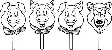 awesome 3 Little Pigs Mask Template Coloring Page Little