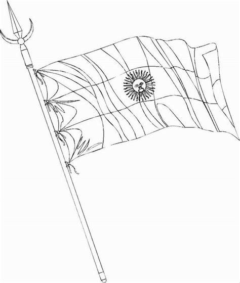 dibujos de la bandera nacional argentina  mastil