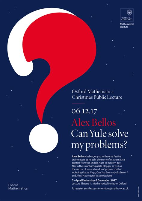 posters  public lectures mathematical institute