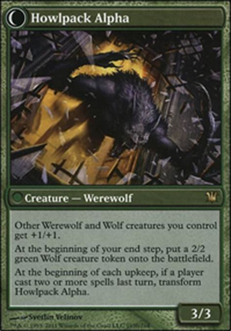 rise of the howlpack rg werewolf tribal modern mtg deck