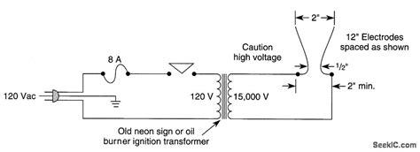 jacob s ladder analog circuit basic circuit circuit diagram seekic