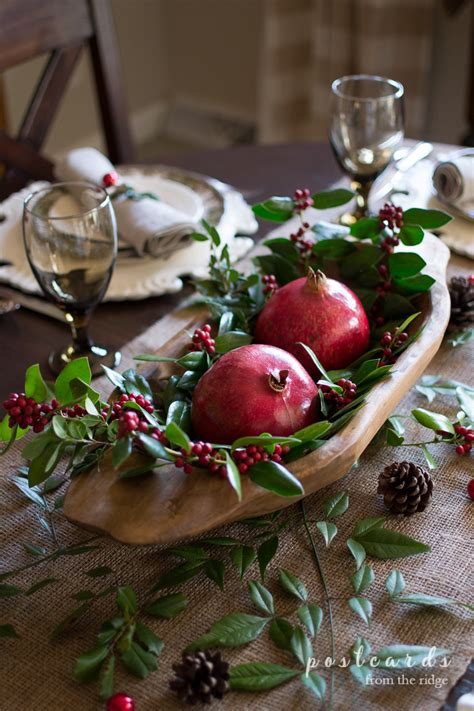 Natural Rustic Christmas Table  Postcards From The Ridge