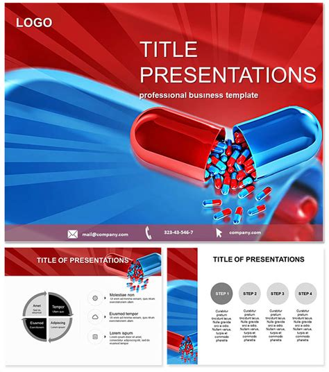 pharmacy  tablets powerpoint template imaginelayoutcom