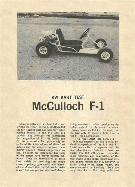 Mcculloch Kart Engine Parts Car