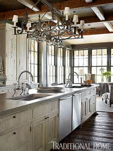 bridge kitchen faucets lake house with rustic interiors home bunch interior