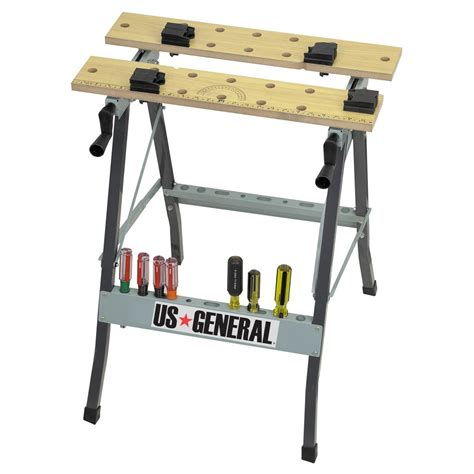 Folding Cling Workbench With Movable Pegs