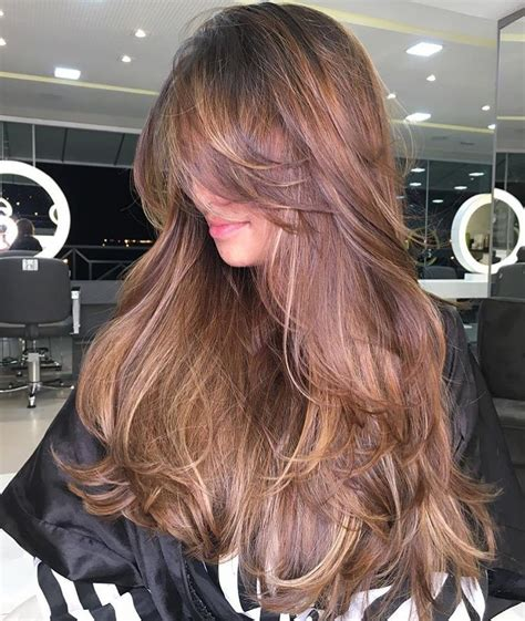 50 Cute and Effortless Long Layered Haircuts with Bangs in