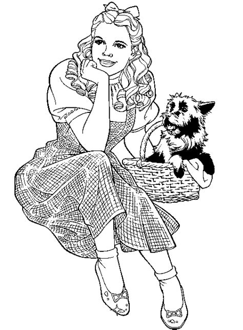 wizard  oz coloring pages team colors