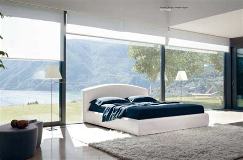 Bedroom Ls Glass by Cozy White Bedroom With Glass Wall Inspiration Interior