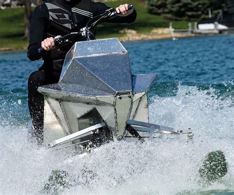 Snowmobile Engine In Mini Jet Boat by Snowmobile Jet Ski