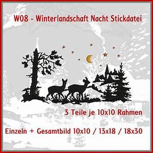 Bettwäsche Winterlandschaft Weihnachten : w08 winterlandschaft nacht stickdatei rock queen stickdateien ~ Sanjose-hotels-ca.com Haus und Dekorationen